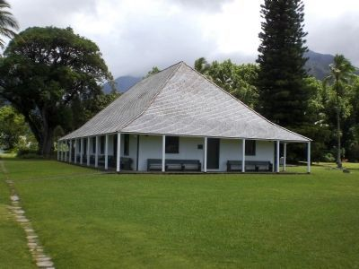 Waioli Mission Hall, built 1841 image. Click for full size.