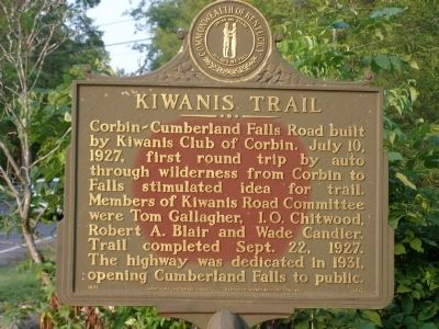 Kiwanis Trail Marker image. Click for full size.