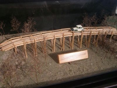 diorama of the Old Pole Bridge on the Kiwanis Road. image. Click for full size.