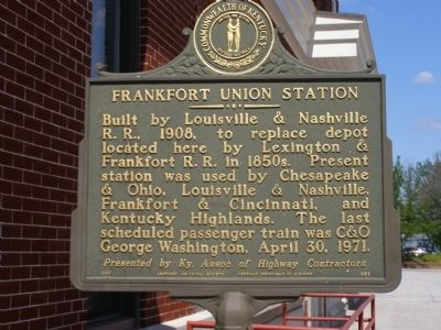 Frankfort Union Station Marker image. Click for full size.