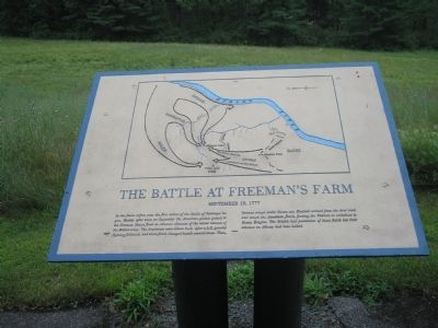 The Battle of Freeman's Farm Marker image. Click for full size.