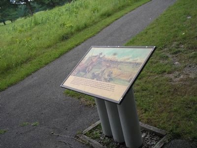 Marker at Breymann Redoubt image. Click for full size.