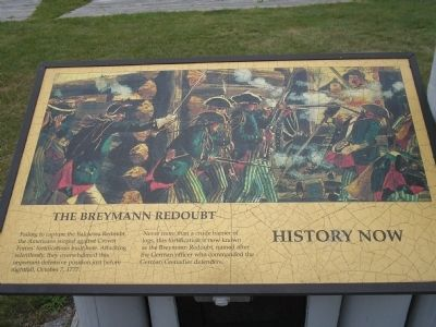 The Breymann Redoubt Marker image. Click for full size.