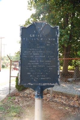 Grave of William Walker / Magnolia Cemetery Marker - Front image. Click for full size.