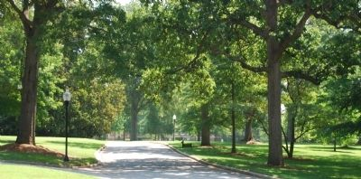 Wofford College's Tree-lined Main Entrance image. Click for full size.