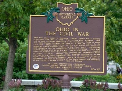 Ohio in the Civil War Side of Marker image. Click for full size.