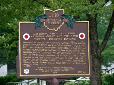 Defending Ohio Side of Marker image. Click for full size.