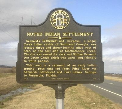 Noted Indian Settlement Marker image. Click for full size.