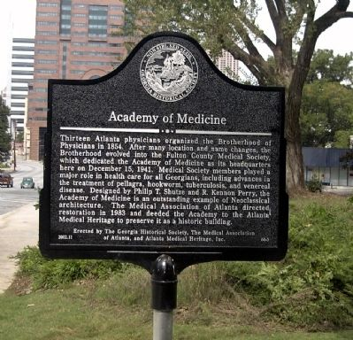Academy of Medicine Marker image. Click for full size.