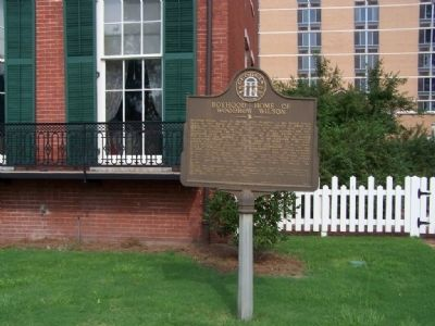 Boyhood Home of Woodrow Wilson Marker image. Click for full size.