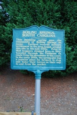Boiling Springs, South Carolina Marker image. Click for full size.