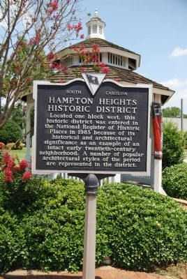 Hampton Heights Historic District Marker image. Click for full size.