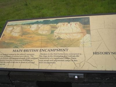 Main British Encampment Marker image. Click for full size.