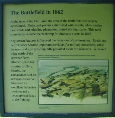 The Battlefield in 1862 - Left Side Panel image. Click for full size.
