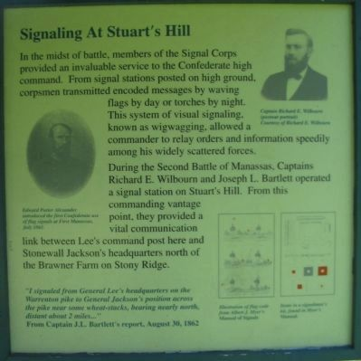 Signaling at Stuart's Hill - Right Side Panel image. Click for full size.