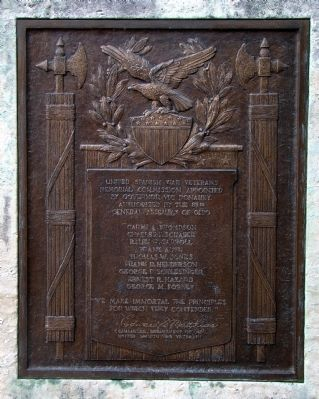 South-Facing Tablet on Right Side of Monument image. Click for full size.