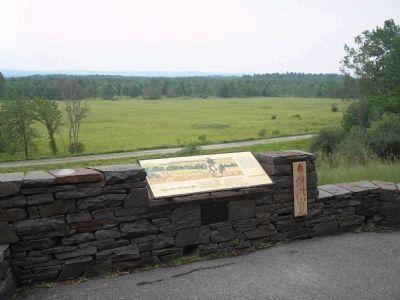 Marker in Saratoga National Historic Park image. Click for full size.