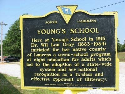 Young's School Marker image. Click for full size.