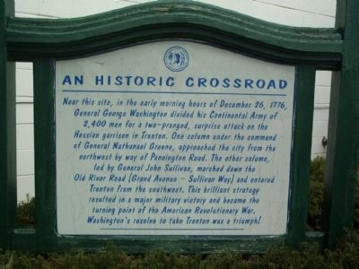 An Historic Crossroad Marker image. Click for full size.