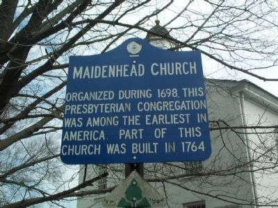 Maidenhead Church Marker image. Click for full size.