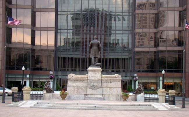 William McKinley Faces Office Building Across High Street image. Click for full size.