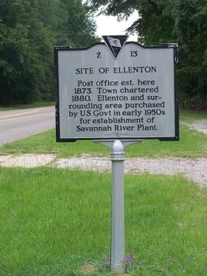 Site of Ellenton Marker image. Click for full size.