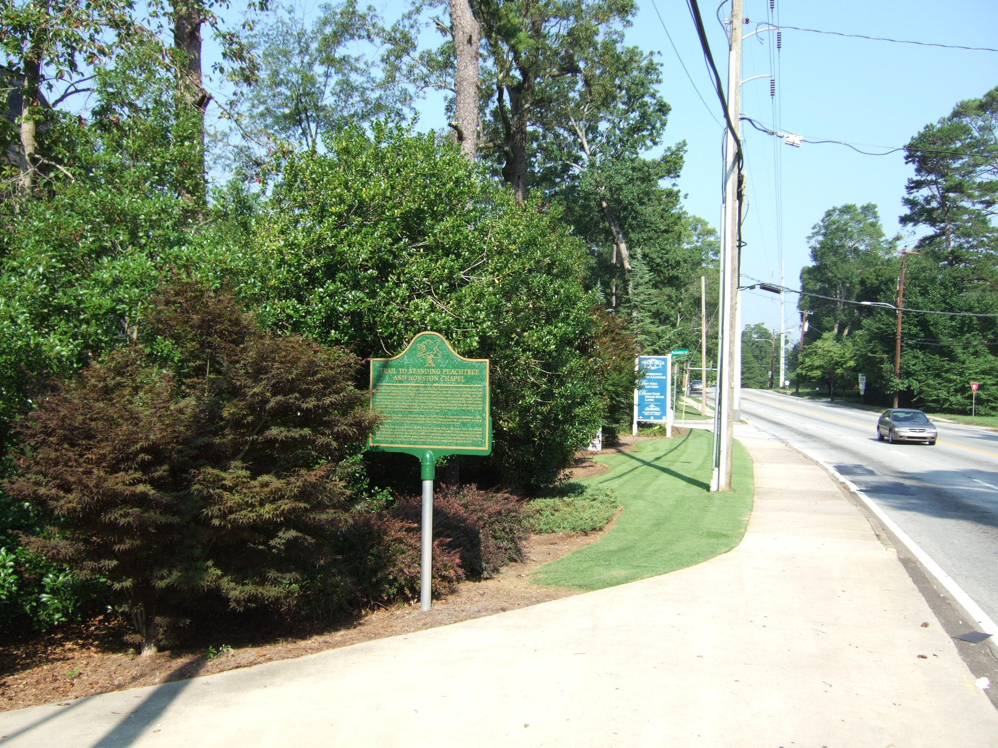 Trail to Standing Peachtree and Houston Chapel Marker
