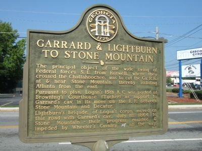 Garrard's & Lightburn's to Stone Mountain Marker image. Click for full size.