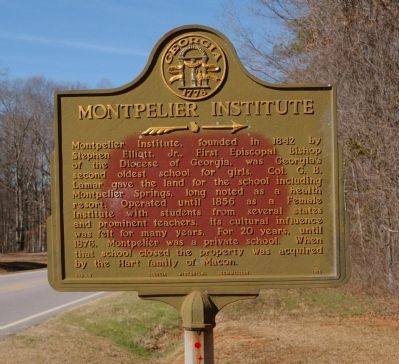 Montpelier Institute Marker image. Click for full size.