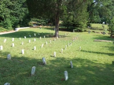 Wide view of Unknown Confederate Dead Grave Markers image. Click for full size.