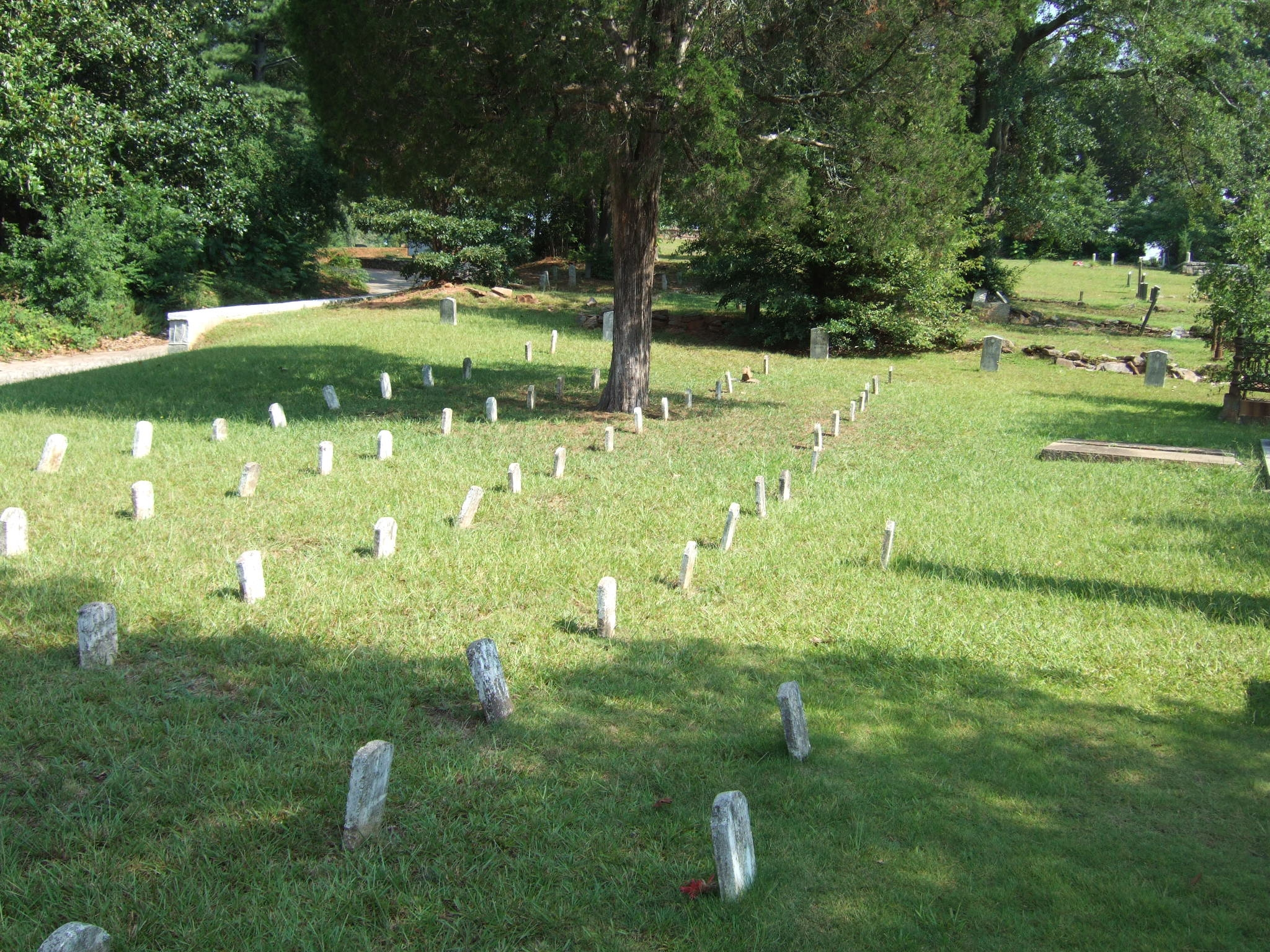 Wide view of Unknown Confederate Dead Grave Markers