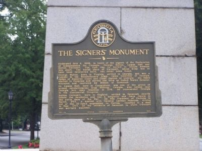 The Signer's Monument Marker image. Click for full size.