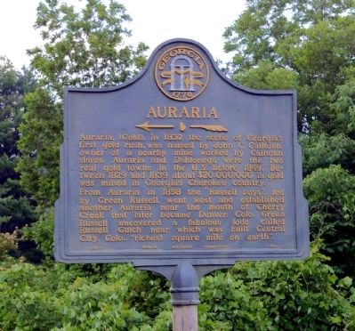 Auraria Marker image. Click for full size.
