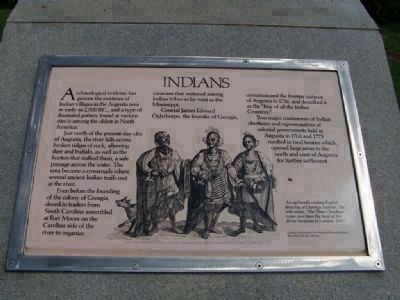 Five Indian Nations Marker additional marker along River Walk Park ~ image. Click for full size.