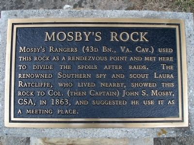 Mosby's Rock Marker image. Click for full size.
