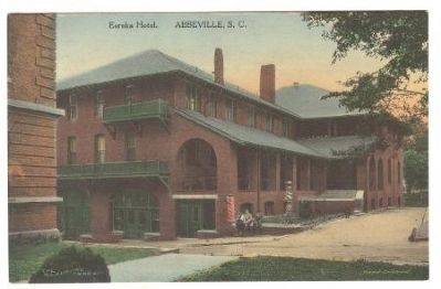 Post Card Showing the Old Eureka Hotel image. Click for full size.
