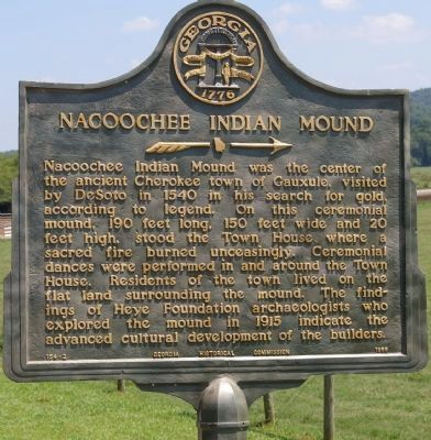 Nacoochee Indian Mound Marker image. Click for full size.