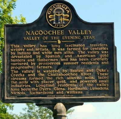 Nacoochee Valley Marker image. Click for full size.