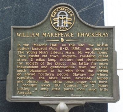 William Makepeace Thackeray Marker image. Click for full size.