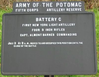 Battery C, First New York Light Artillery Tablet image. Click for full size.