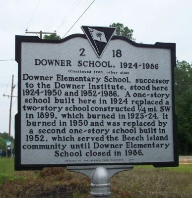 Downer School, 1924–1986 Marker image. Click for full size.