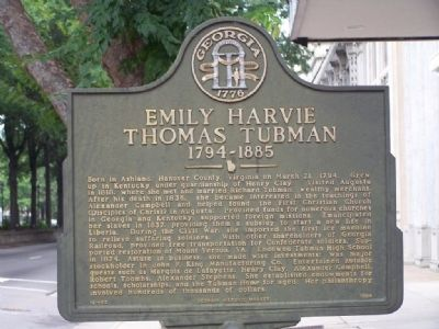 Emily Harvie Thomas Tubman 1794-1885 Marker image. Click for full size.