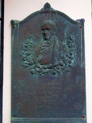 A Memorial To Eli Whitney Marker image. Click for full size.