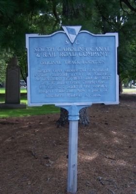South Carolina Canal & Rail Road Company Marker image. Click for full size.