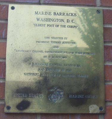 Marine Barracks, Washington, D.C. Marker image. Click for full size.