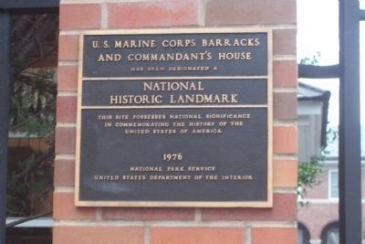 U.S. Marine Corps Barracks and Commandant's House image. Click for full size.