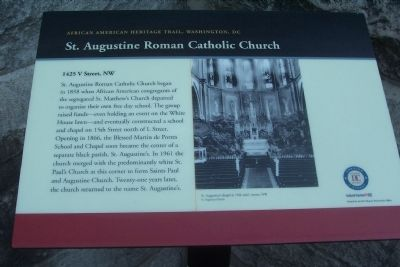 Saint Augustine Roman Catholic Church Marker image. Click for full size.