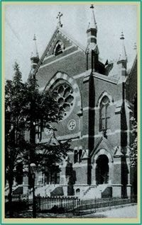 The original Saint Augustine RC Church, 1876-1946 image. Click for full size.
