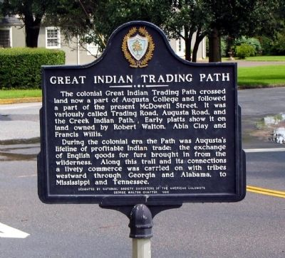 Great Indian Trading Path Marker image. Click for full size.