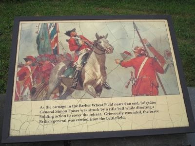 General Fraser Was Struck Marker image. Click for full size.